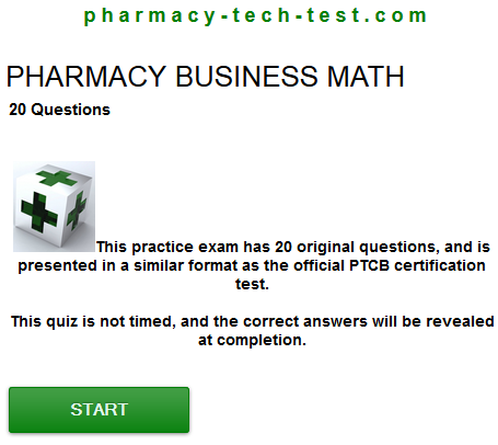 Pharmacy Business Math Quiz